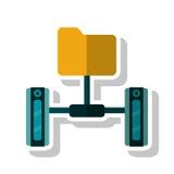 file and data base design. File icon. Data base center and web hosting theme.  design. Vector illustration Stock Photos