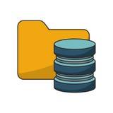 file and data base design. File icon. Data base center and web hosting theme.  design. Vector illustration Stock Images
