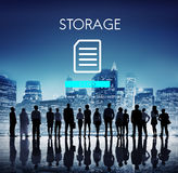 File Database Cloud Network Concept Stock Photos
