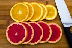File dei cerchi della frutta Immagini Stock