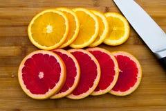 File dei cerchi della frutta Fotografia Stock Libera da Diritti