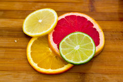 File dei cerchi della frutta Immagine Stock Libera da Diritti