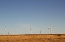 File dei generatori eolici Immagini Stock Libere da Diritti