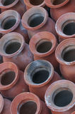 File dei potteries tradizionali dell'argilla in Bhaktapur, Nepal Fotografie Stock Libere da Diritti