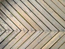 File del pavimento di legno giallo Fotografie Stock