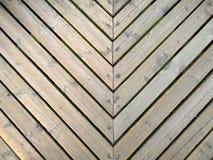 File del pavimento di legno giallo Immagine Stock Libera da Diritti