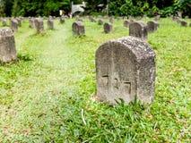File dell'attendente delle tombe Fotografia Stock