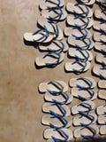 File della pantofola Immagini Stock