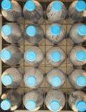 File delle bottiglie di acqua di plastica Fotografia Stock Libera da Diritti