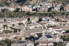 File delle case suburbane di California Fotografia Stock