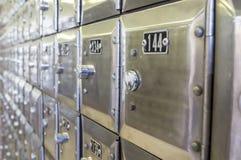 File delle caselle postali del metallo Immagini Stock Libere da Diritti