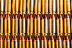 File delle munizioni della pistola Fotografie Stock