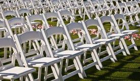 File delle sedie Immagini Stock