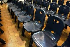 File delle sedie fotografia stock libera da diritti