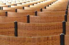 File delle sedie vuote Fotografia Stock