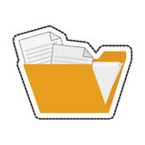 file design. File icon. Folder document data archive and storage theme.  design. Vector illustration Royalty Free Stock Photography