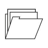 file design. File icon. Folder document data archive and storage theme.  design. Vector illustration Stock Images