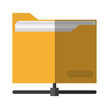 file design. File icon. Folder document data archive and storage theme.  design. Vector illustration Royalty Free Stock Photos