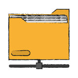 file design. File icon. Folder document data archive and storage theme.  design. Vector illustration Royalty Free Stock Images