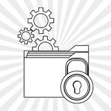 File design. Online concept. Isolated illustration, editable vector Royalty Free Stock Photo