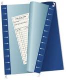 File di archiviazione della lista dei passeggeri di contabilità Fotografia Stock