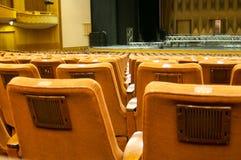 File di sedili della sala da concerto Immagine Stock