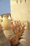File di terraglie, Nizwa, Oman Fotografia Stock