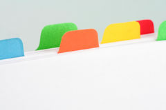 File divider Royalty Free Stock Image