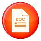 File DOC icon, flat style Royalty Free Stock Photo