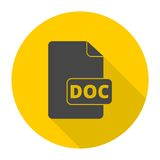 File Doc icon with long shadow Stock Photo