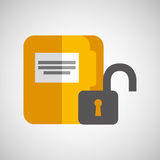 File document folder archive safety padlock Stock Photography