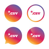 File document icon. Download CSV button. File document icon. Download tabular data file button. CSV file extension symbol. Gradient buttons with flat icon Royalty Free Stock Images