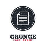 File document icon. Download doc button. Grunge post stamp. Circle banner or label. File document icon. Download doc button. Doc file symbol. Dirty textured web Stock Photos