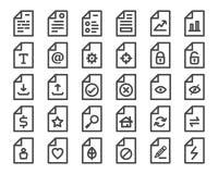 Document icon. File,document icon,pixel perfect icon Stock Photos