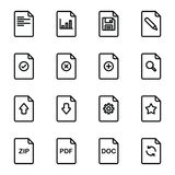 File document icon set. Simple Set of Document Flow Management Vector Line Icons Royalty Free Stock Image