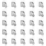 File Document icon  set. /16 vector for design Stock Photo