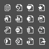 File document icon set 2, vector eps10 Royalty Free Stock Photos