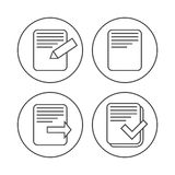 File document icons. Vector File document icons set. contoured design concept Royalty Free Stock Photo