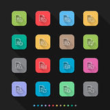 File and Documents flat style icons set - Vector illustration for Web & Mobile Royalty Free Stock Photos