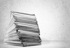 Stack file folders with documents stock photo