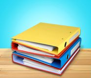 File folders with documents isolated on light royalty free stock images