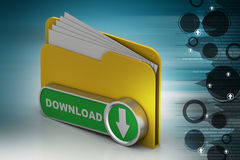 File down load icon. In white background Stock Photography