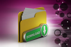File down load icon. In white background Royalty Free Stock Photography