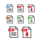 File download icon. Document text, symbol web format information. Pdf icon Stock Image
