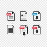 File download icon. Document text, symbol web format information. Pdf icon Royalty Free Stock Photos