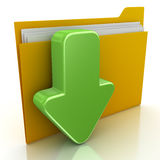File Downloading. 3d render. File Downloading. Document Royalty Free Stock Photo