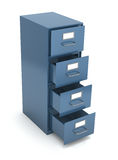 File drawer. Over white background (3D illustration Royalty Free Stock Image