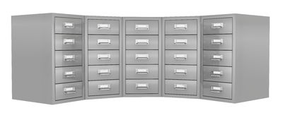 File drawer. Front view of a big file drawer (3d render Royalty Free Stock Photo