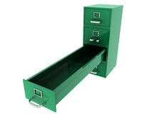 File Drawer. 3D rendered file drawer over white background Stock Image