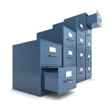 File drawers. From bottom to top (3D concept with file drawers Stock Image